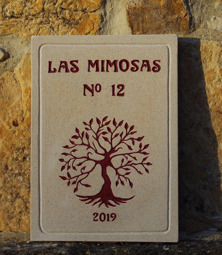 Piedra grabada personalizada para entrada de una casa